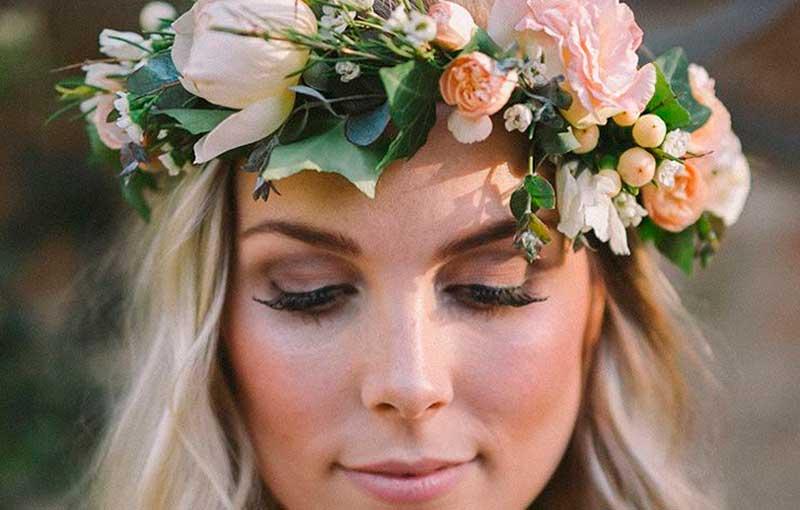 Coronas de flores para novias en Madrid