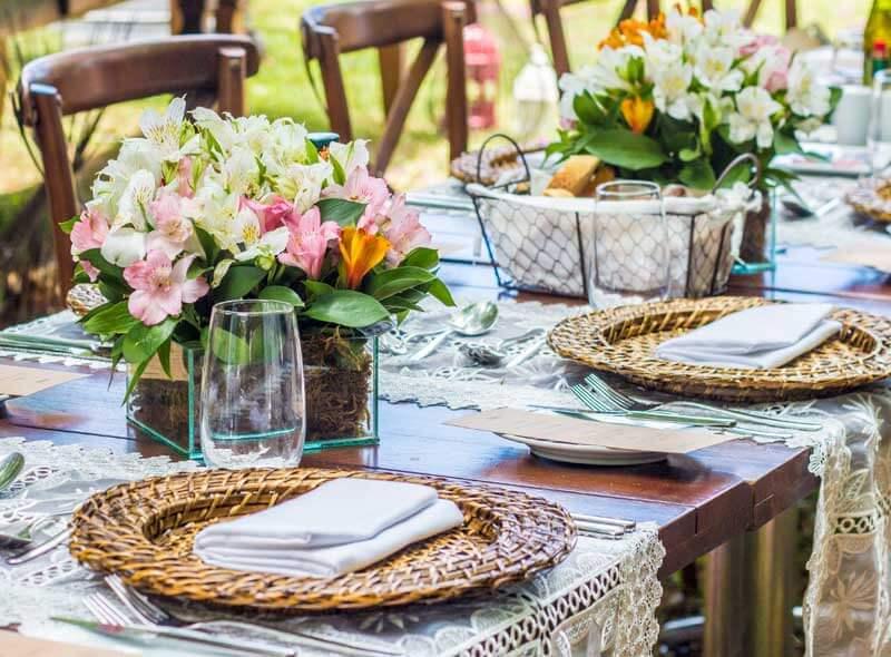 Centros de flores de mesa