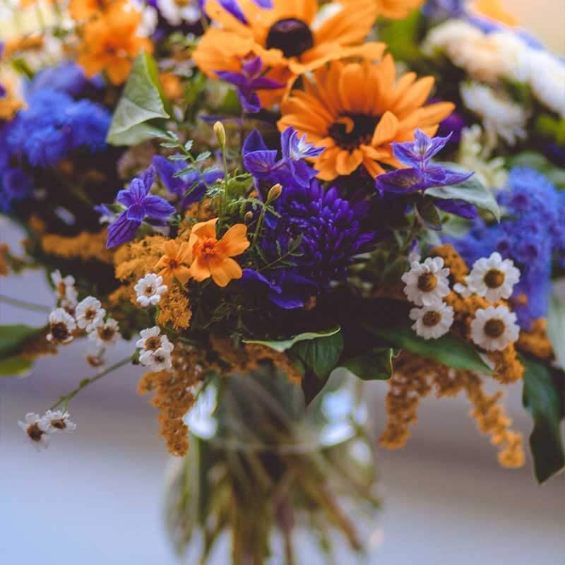bouquet de flores silvestres margaritas